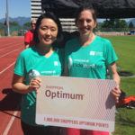 Victgoria Maxwell and Jennifer Kim (SDM) with Optimum Card vertical (cropped)