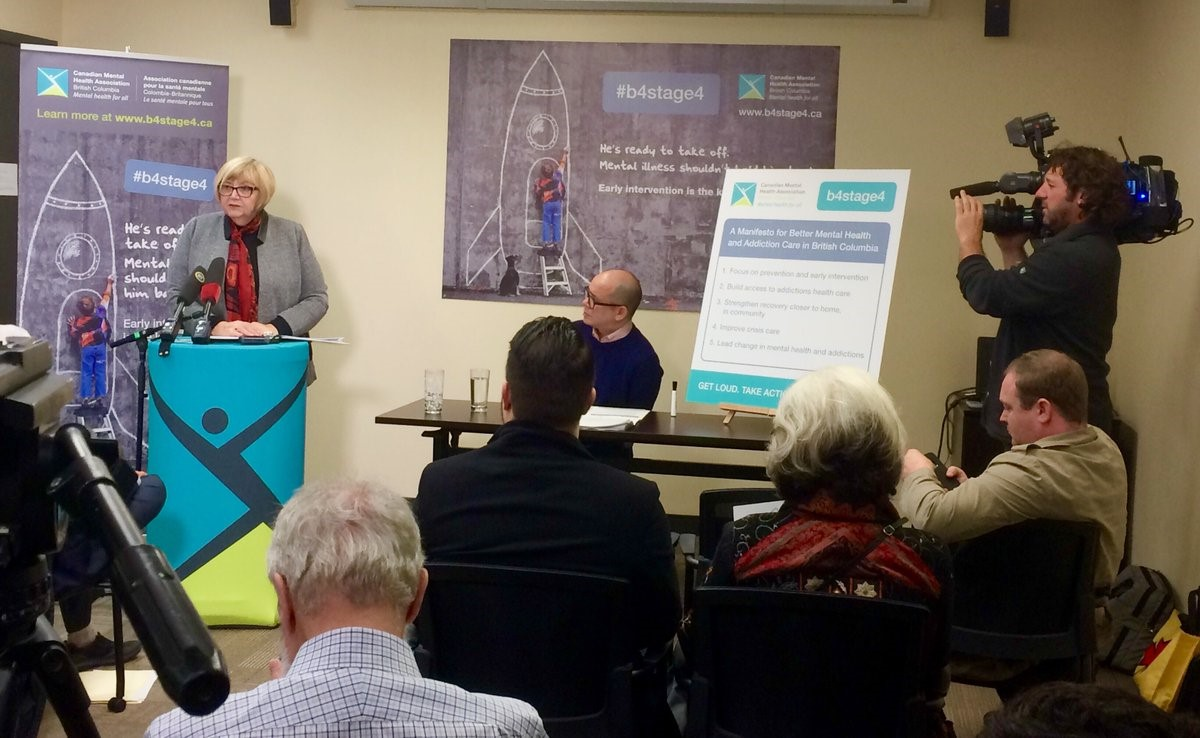 CMHA BC's CEO, Bev Gutray, launches the b4stage4 manifesto