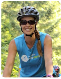 Candice cycing at Ride Don't Hide