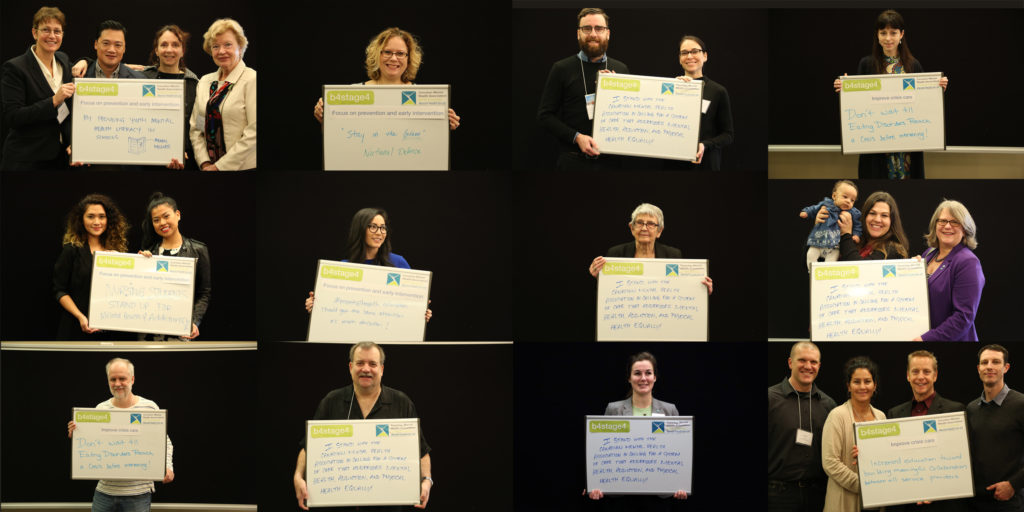 conference participants made personal pledges to support mental health b4stage4