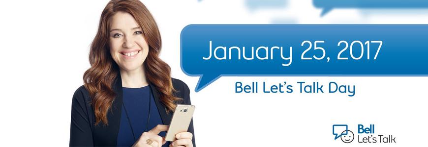 Bell Let`s Talk Day - Jan 25, 2017