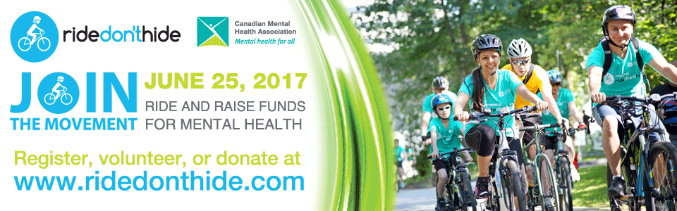 Ten thousand Canadians from coast to coast will Ride Don't Hide on June 25
