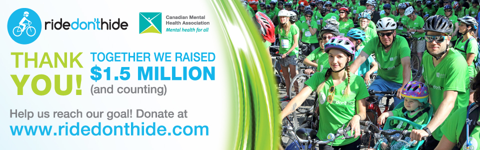 Record-breaking Ride Don't Hide event raises over $1.5 million for mental health across Canada