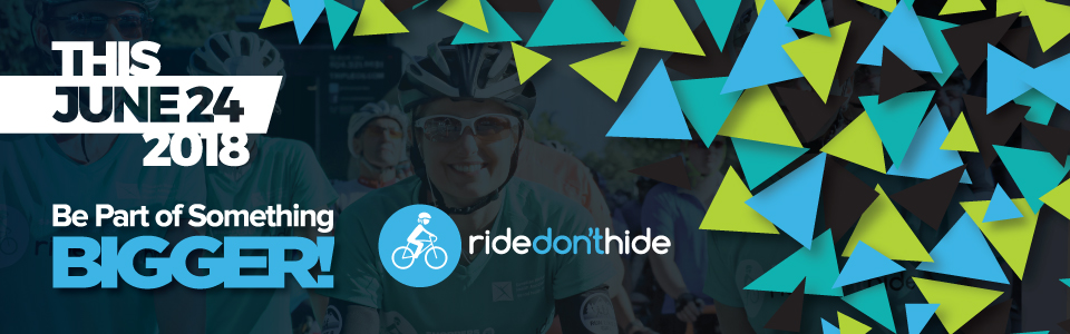 Ride Don't Hide on June 24, 2018