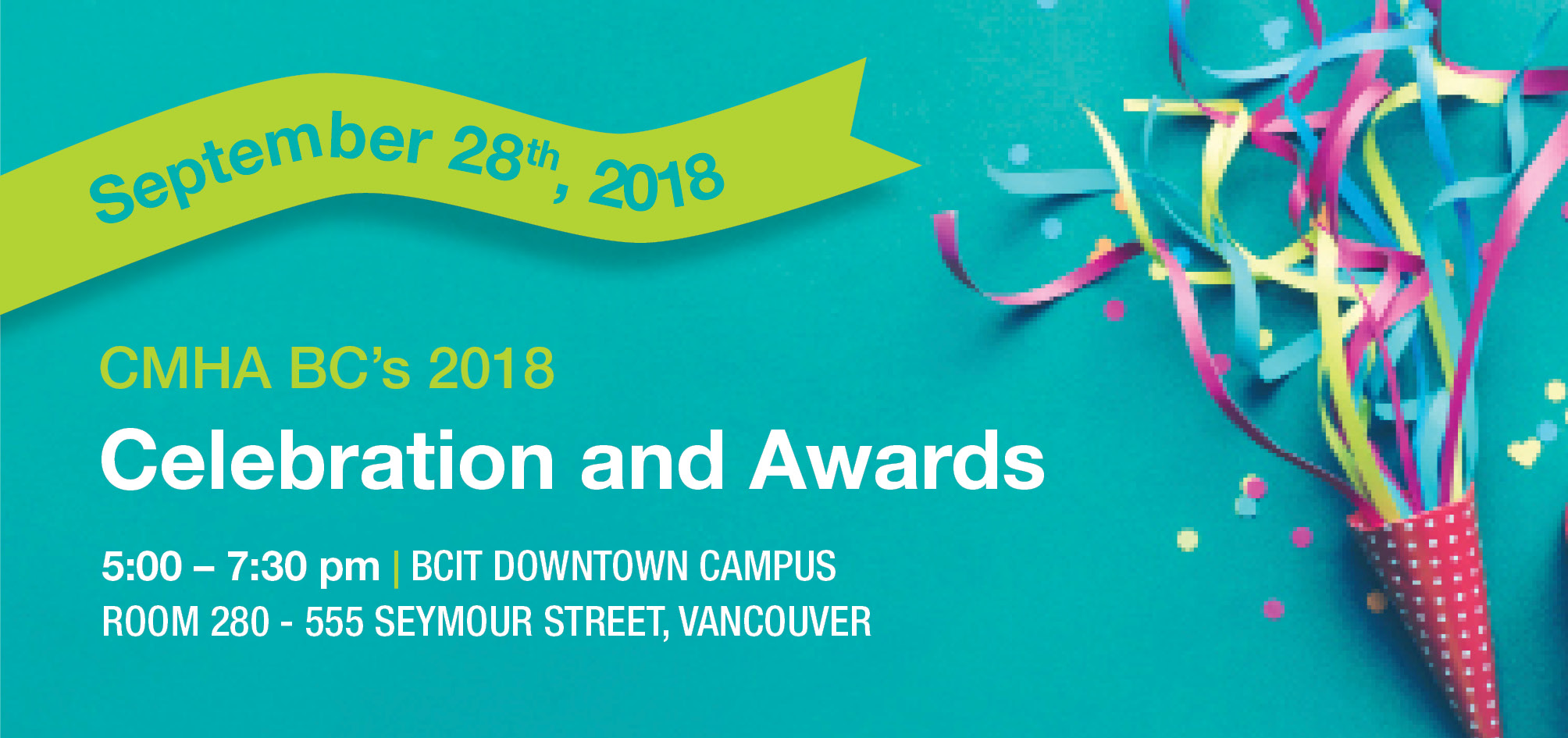 CMHA BC Awards Celebration - September 28,. 2018