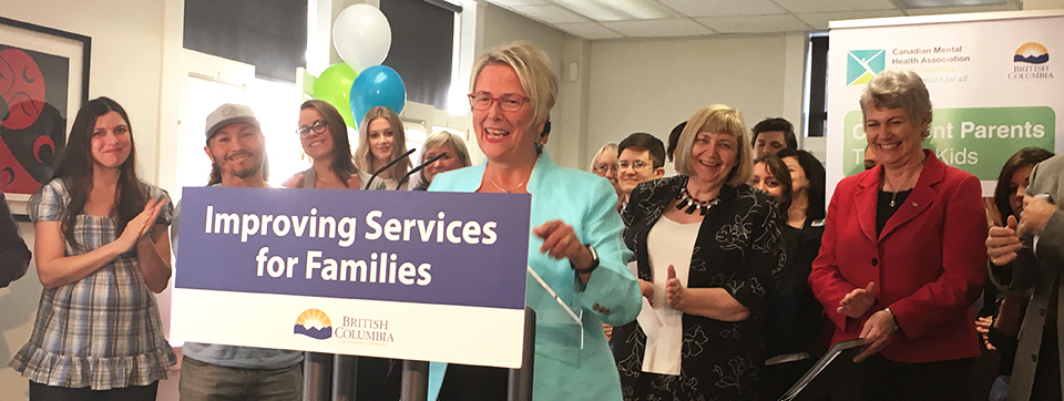 Hon. Judy Darcy announces new program for BC families