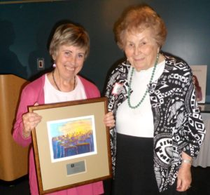 Agnes Hall presents the 2013 Dr. Nancy Hall Award to Nichola Hall, From Grief to Action
